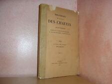 Bibliothèque de l' école des chartes revue d'érudition moyen age  1937