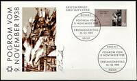 BRD 1988: Pogrom vom 9.11.1938! FDC Nr 1389 mit Bonner Ersttagsstempeln! 1609