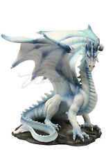 White Dragon sitting up home decor statue figure collectible sculpture