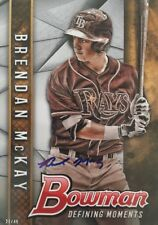 BRENDAN McKAY RC ROOKIE SIGNED AUTO AUTOGRAPHED TAMPA BAY RAYS 27/49 RARE 5x7