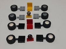 LEGO CAR ACCESSORIES WHEELS TYRES AXLES STEERING WHEEL SEAT CHAIR CHOOSE COLOURS