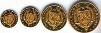 Republica Senegal 10 25 50 100 Francos Oro 1968 @ Sin circular @