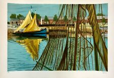 """Salinas, """"In Port"""", hand signed, Ltd. Ed. lithograph"""