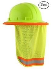 Neck Shade Safety Works Hard Hats Sun Shield Worker Helmet Brim Construction 2pc