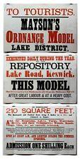 Large Railway Poster 19th Century Keswick Mayson's Model Lake District Rare