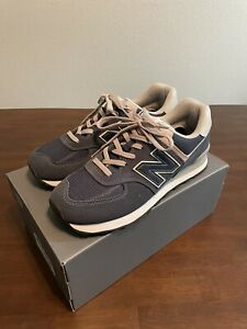 Size 9.5 New Balance 574 Navy - ML574EGN