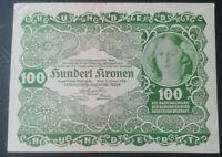 AUSTRIA / HUNGARY 100 Kronen 1922