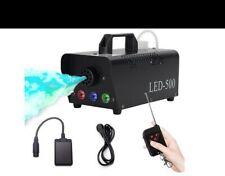 Nebelmaschine, Rauchmaschinen mit Kabelloser Fernbedienung Led 7 Farbige 500W...