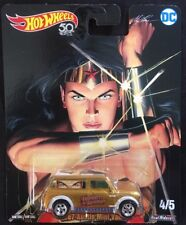 Hot Wheels DC Wonder Woman '67 Austin Mini Van 1:64 Diecast 4/5 New