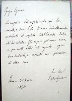 1876 LETTERA PIETRO CIPRIANI (SAN PIERO A SIEVE) MEDICO DI VITTORIO EMANUELE II