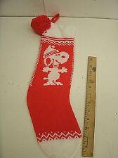 "Peanuts Snoopy Knit Christmas Stocking 5"" X 18.5"""