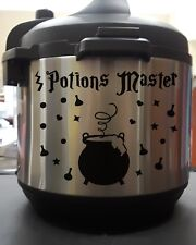 Potions Master Wizard Cauldron Black Vinyl Decal Sticker Set for Instant Pot