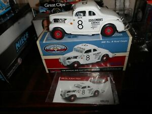 """RALPH EARNHARDT #8 EDDLEMAN'S GARAGE 1940 FORD """"GO OR BLOW"""" 1/24 ACTION CWC NEW"""