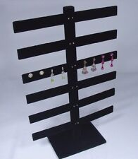 "6 Tier 15""H x 10""W  BLACK VELVET 24 PAIRS EARRING JEWELRY DISPLAY STAND 252-6B"