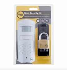 Yale Shed Security Kit | Motion Sensor PIR Wireless Alarm & Padlock | Garage