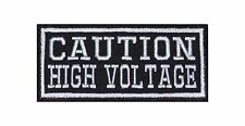 Caution High Voltage Biker heavy rocker Patch Patch sotana perchas imagen moto