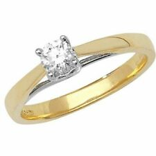 Yellow Gold Diamond Solitaire Heart Ring