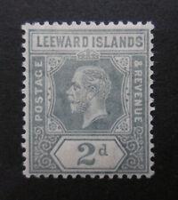 Leeward Islands 1912 KGV 2d Gray  MLH  Sc 49  SG 49