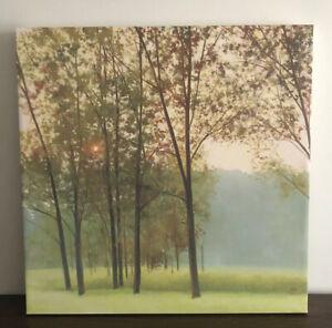 Sunset Autumn Landscape Elisa Gore 'Haze' Box Canvas Art Painting Home Decor