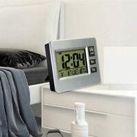 Digital Alarm ClockLCD Wall Mount Calender Clock for Bedroom Office