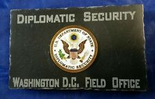 Diplomatic Security Washington DC Field Office State Dept DSS Emblem Marble Desk