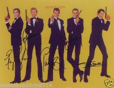 """James Bond 007 Reprint Signed 8x10"""" Photo RP of Characters over the Years"""