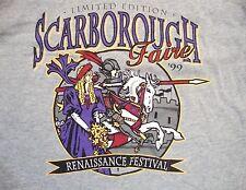 Scarborough Faire Renaissance Festival Souvenir Gray T-Shirt M / L