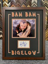 Bam Bam Bigelow Signed Cut Jsa Auto Custom Framed Wwf Wwe