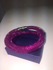 Crystal filled Leather Double Wrap Swarovski Bracelet