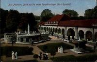 Bad Nauheim Hessen Wetteraukreis 1917 gelaufen nach Treysa Sprudel Park Quelle