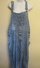 VINTAGE Denim Oversized Dungarees Overalls Jumpsuits Size XL UK 16/18