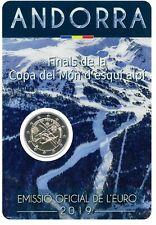 2€ GM Andorra  2019 Ski WM -- Münze im Offiziellen Blister