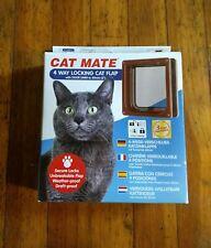 Cat Mate 4 Way Locking Cat Flap With Door Liner To 50Mm (2�), Brown (235B)