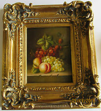 Fruit oil painting on canvas with PU fancy frame (Painting size: 8x10 inches)