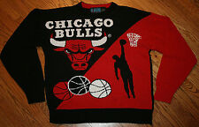 Chicago Bulls acrylic knit Sweater Men's Small Game 7 NBA Basketball black red