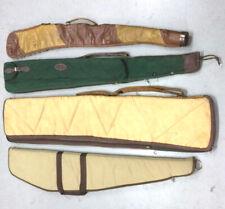 Vintage Rifle Gun Cases Lot of 4 Leather Canvas Boyt / Bob Allen + More