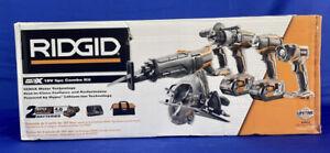 RIDGID R9652 GEN5X 18V 5-Tool Combo Kit (32785-1) Hyper 4.0Ah New