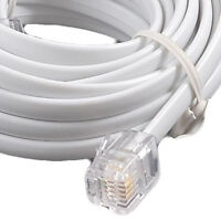 10m ADSL 2+ High Speed Broadband Modem Cable RJ11 to RJ11 white bt,sky,talktalk