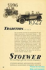 Stoewer Germany german ad 1928 tradition 1896 xc