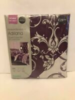 Adriana plum Double Duvet Cover Set Dunelm, 200 thread count, 100% cotton sateen