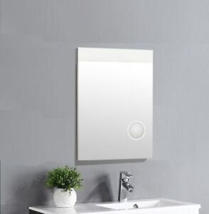 LED Lichtspiegel Badspiegel Wandspiegel Spiegel 3fach Vergrößerung integriert