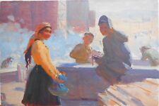 Armenian Art Gallery,Soviet Workers,Socialist Impressionism Painting,Armenia 50s