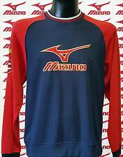 Felpa MIZUNO, con etichette, colore navy/red - ULTIMA taglia M