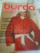 RARE MAGAZINE BURDA MODEN VINTAGE EN AVANT PREMIERE MODE PRINTEMPS 1979