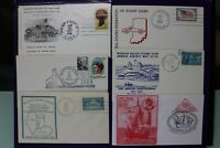 Indiana Mutliple Stamp Exhibition & Shows Lot of 6 Philatelic Expo Cachet Covers
