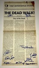 DAY OF THE DEAD Cast Signed x11 NEWSPAPER POSTER Exact PROOF Waxwork Records
