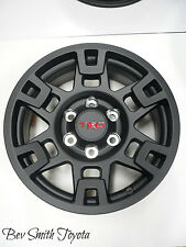 NEW OEM TOYOTA BLACK TRD ALUMINUM 17 INCH WHEELS 5 PIECE SET(FOR SPARE TIRE)