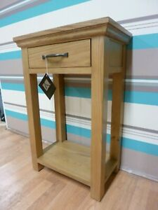 New Stylish Compact Oak 1 Drawer Hall Console Telephone Table *Furniture Store*