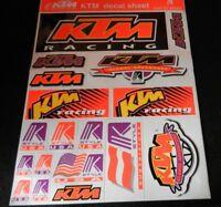 sticker    KTM   decal sheet   very big  very good