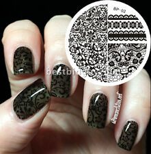 Born Pretty Nail Art Stamping Plates Chic Lace Image Stamp Template #02